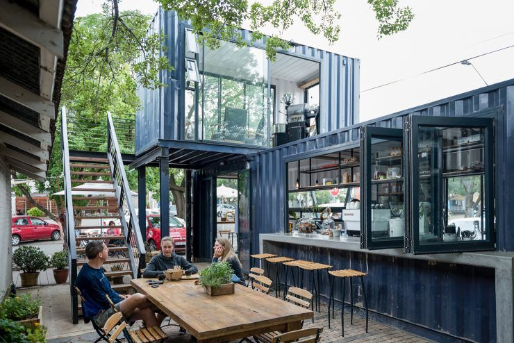 TwoStory Shipping Container Cafes  Spout Coffee Company