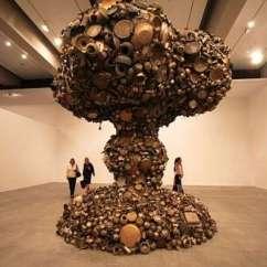 Kitchen Pots Trolley Nuclear Art : Subodh Gupta