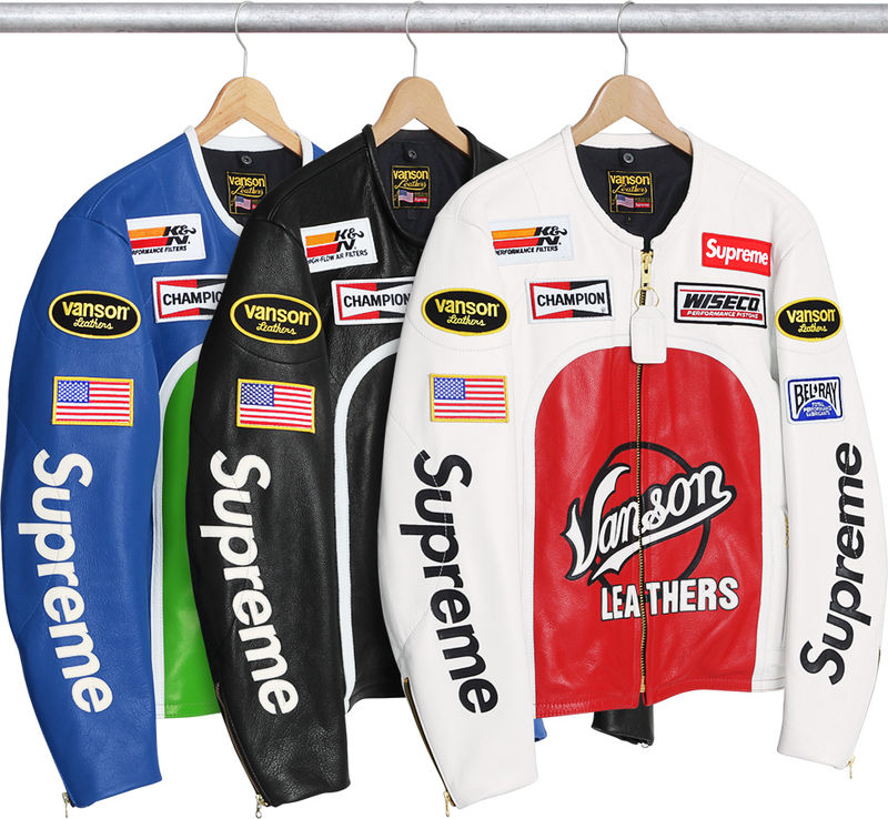 Collectible Leather Racing Jackets  Supreme x Vanson Leathers
