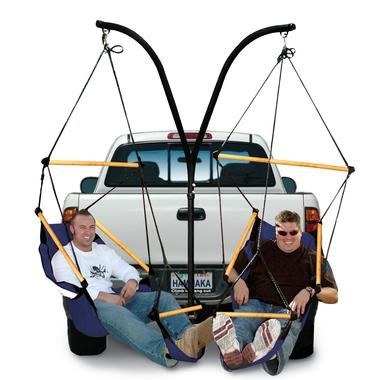 steel hammock chair stand chicco floating high tailgate hammocks: trailer hitch and chairs