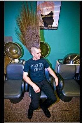 27 Inch Mohawks Eric Hahns Record Breaking Hair