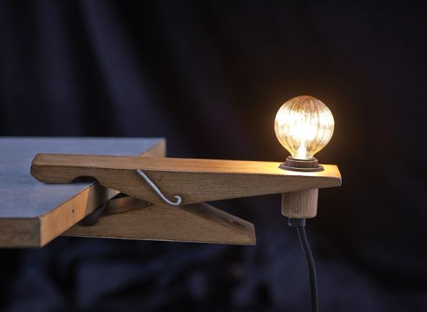 Quirky Clothespin Lights  the Clamp Lamp