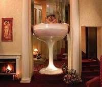 Caesars Pocono Resorts: In Room Champagne Glass Hot Tub