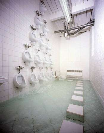 Urinal Waterfalls Not as Gross as It Sounds but Toilet