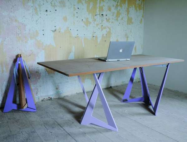 Folding Sawhorse Tables Trestle Legs Table is the Short