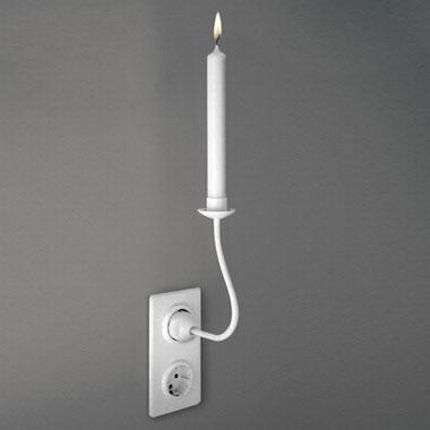 PlugIn Candles The PlugShaped Trompe Loeil Candle Holders