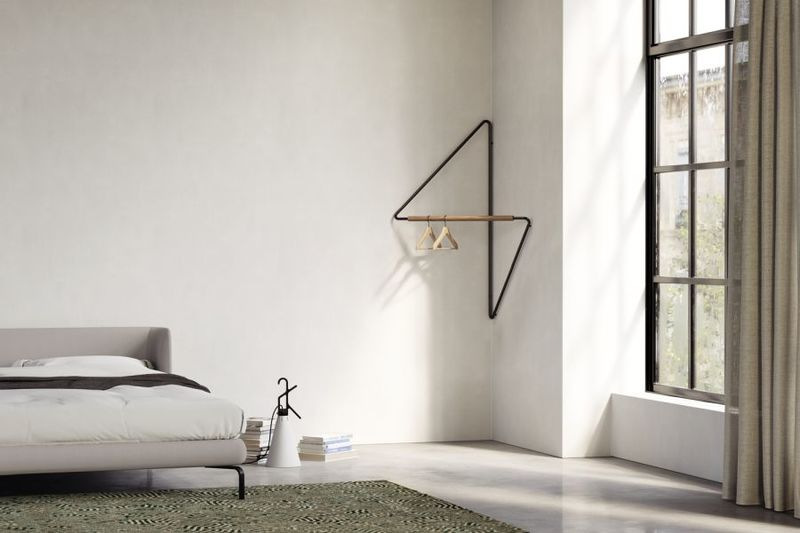 geometric corner clothing racks ugao