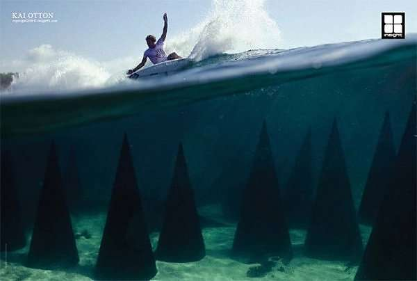 Underwater Advertising Cool Insight Surf Campaign
