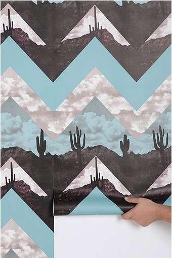 Graphic DesertInspired Decor  urban outfitters chevron wallpaper