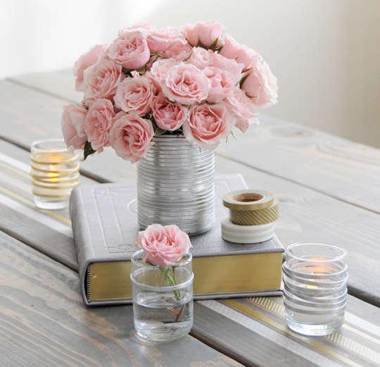 Romantic Homemade Votives Valentines Day Table Decor