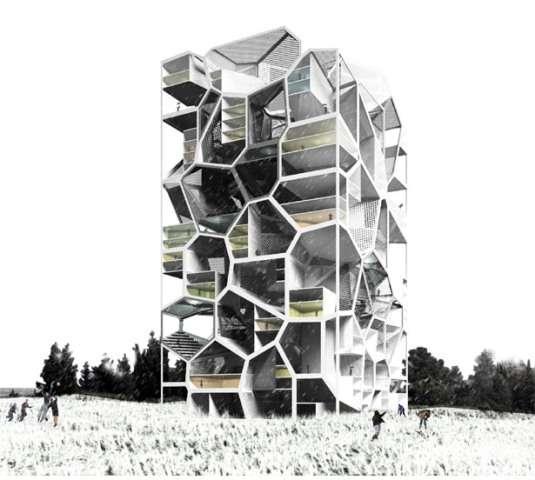 Futuristic Family Highrises : Vertical Village