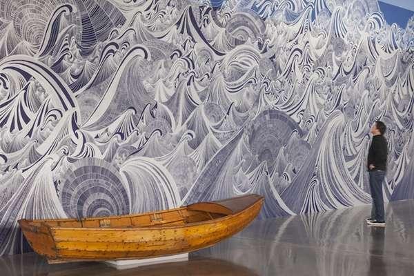 Enormous Oceanic Murals  wave mural
