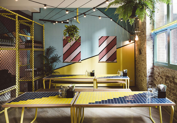 Geometric Seascape Interiors  whimsical interior design