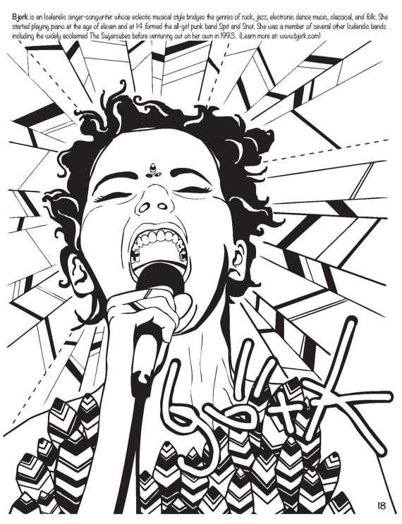 Feminist Rockstar Sketchbooks : Women Who Rock Coloring