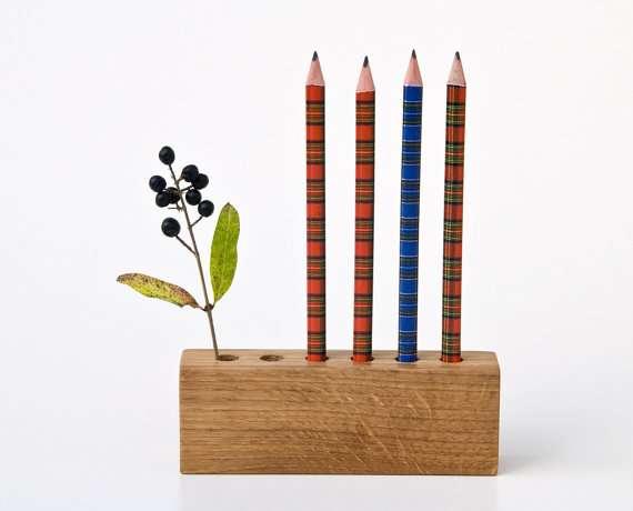 Incredible Ink Holders  Wood Pencil Holder