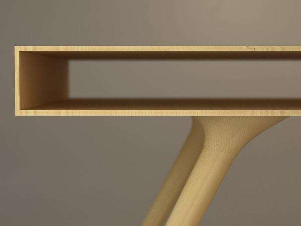 Hollow Top Tables  Wood Table by Roman Shpelyk