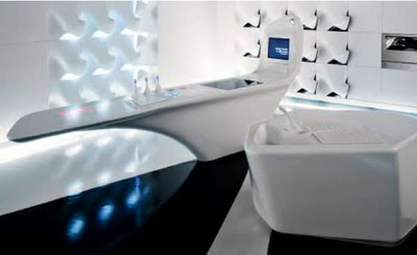 kitchen island with prep sink bar seating futuristic console kitchenettes : z-island