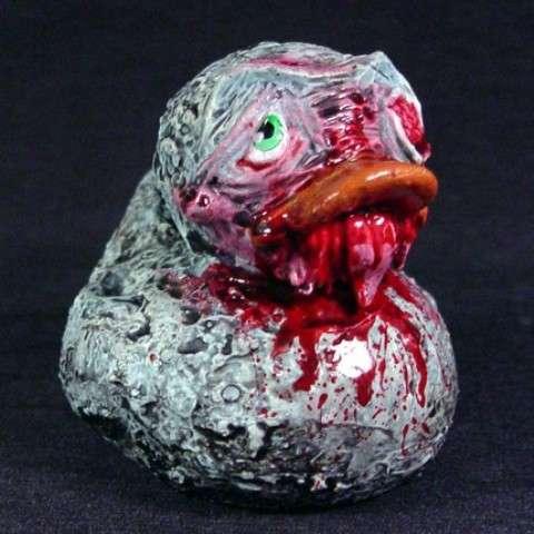 Undead Bathtub Toys  Zombie Rubber Ducks