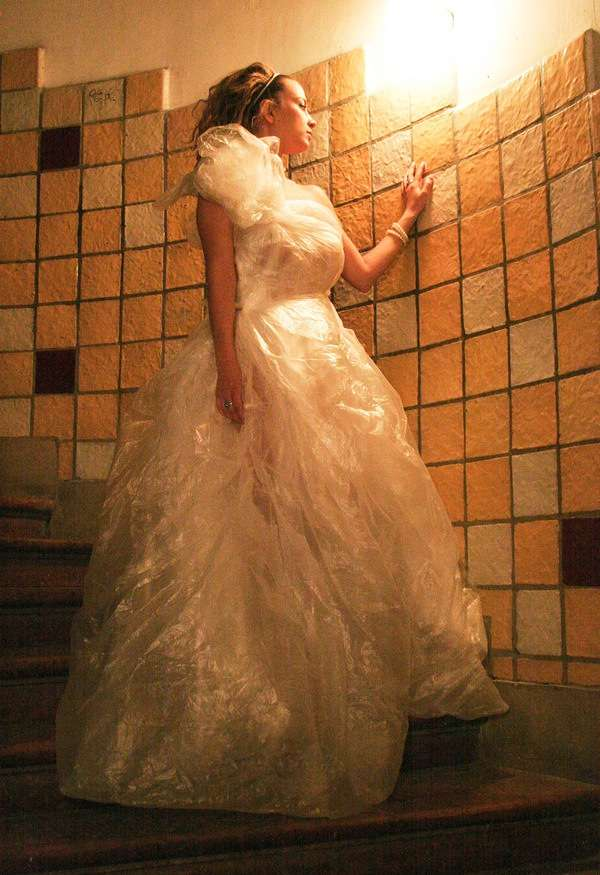 Plastic Bag Ballroom Gowns Credit Crunch Couture in