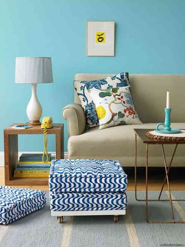 40 accent color combinations to get your home decor wheels turning - Living Room Accent Colors