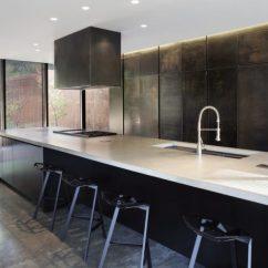 Metal Kitchen Cabinet Hammered Nickel Sink Contemporary Cabinets That Redefine Modern Cook Room View In Gallery Gun Steel
