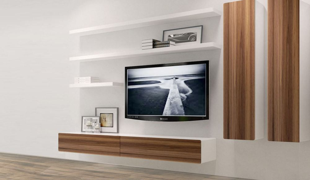 21 Floating Media Center Designs for ClutterFree Living Room