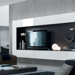 Living Room Entertainment Wall Ideas Contemporary Design Images 21 Floating Media Center Designs For Clutter Free View In Gallery Regolo Unit System From Jesse Chicago