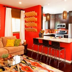 Brown And Orange Living Room Ideas For Dividers 40 Accent Color Combinations To Get Your Home Decor Wheels Turning View In Gallery Red Beige
