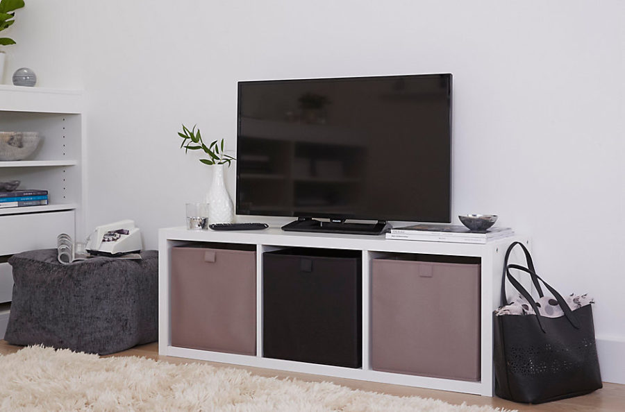 small living room entertainment center ideas grey wooden flooring 25 creative ways to use cube storage in decor
