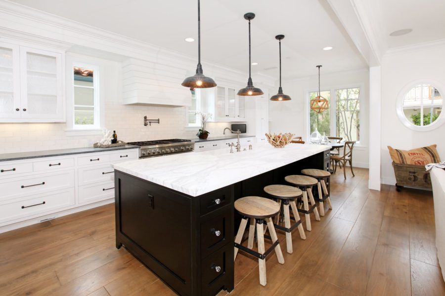 two tone kitchen island backsplash for white 35 cabinets to reinspire your favorite spot in the view gallery black and picture
