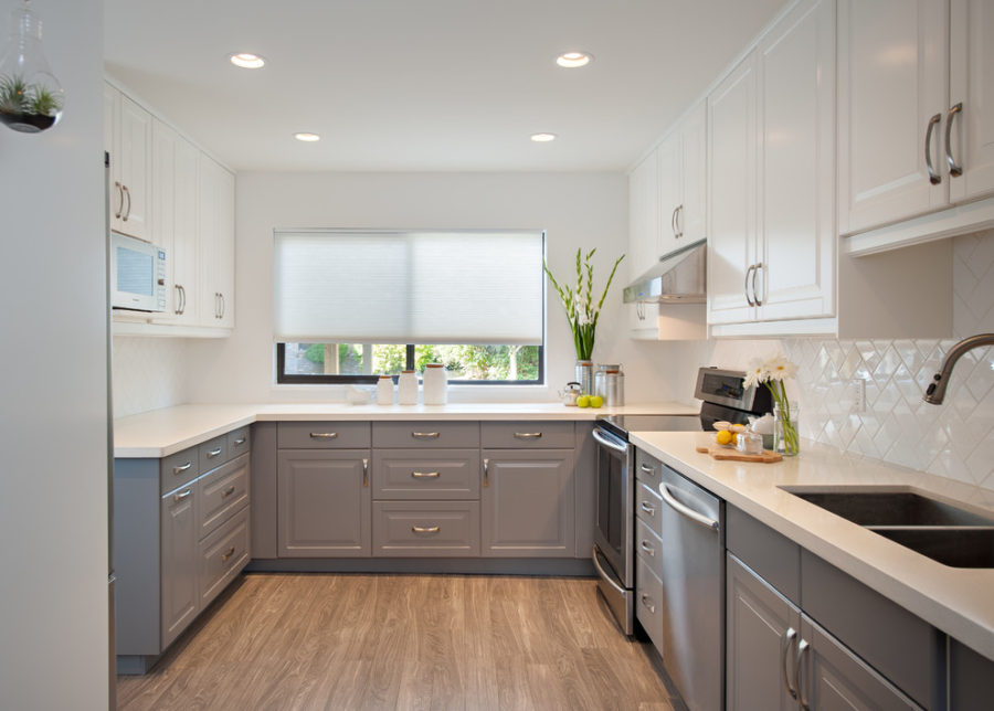 white kitchen cabinets ideas cabinet refacing los angeles 35 two tone to reinspire your favorite spot in the view gallery incredible perfect color combinations for