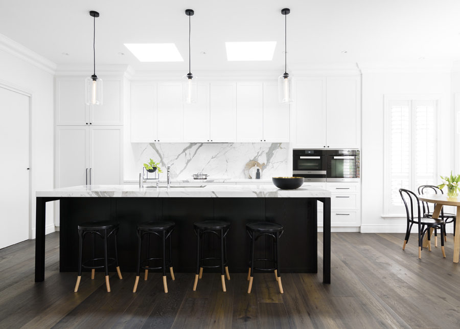 modern kitchen backsplash corner table with storage bench ideas for cooking style black and white by biasol design studio 900x643