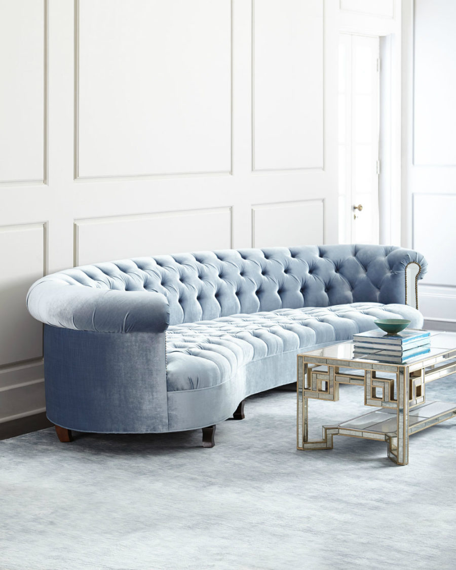 chesterfield corner sofa velvet light pink uk see your face in every surface with mirrored furniture