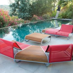 What Are Pool Chairs Made Out Of Troutman Rocking Price Ultra Modern Lounge To Turn Your Backyard Into Retreat View In Gallery Tandem By Thomas Sauvage Ego Paris