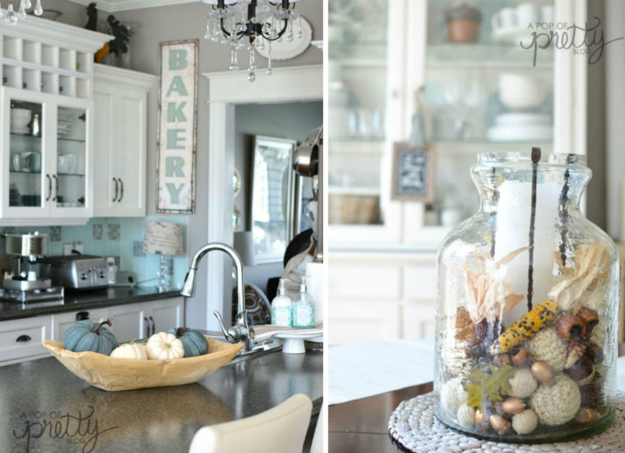 fall kitchen decor cost per linear foot cabinets ideas that are simply beautiful view in gallery a pop of pretty
