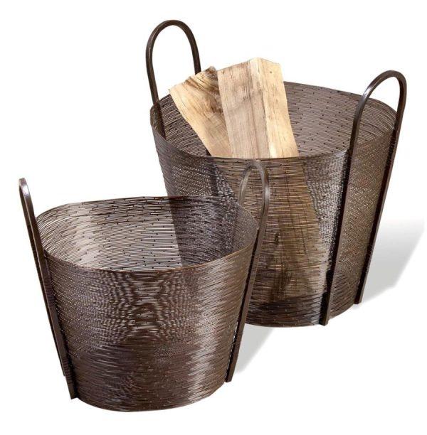 Antique Bronze Metal Basket