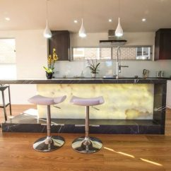 Quartz Kitchen Countertops Cost Home Dog Food Backlit Furniture Will Fill Your With Radiance