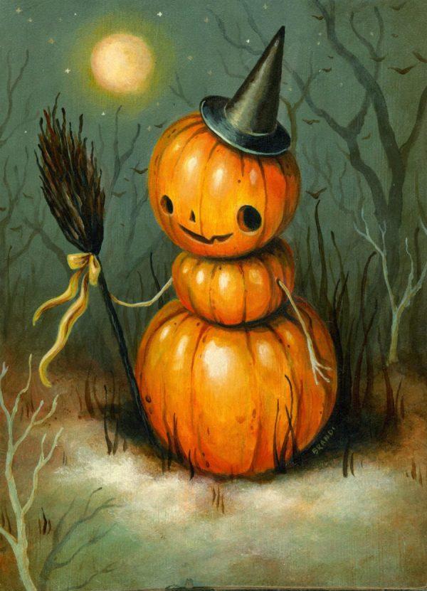 Contemporary Halloween Art Tasteful Holiday Decor