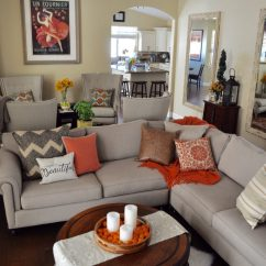 Decor For Living Room White Faux Wood Blinds In Tis Autumn Fall Ideas View Gallery Accents