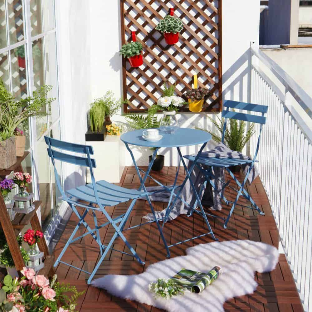 outdoor high top table and chairs set industrial metal kitchen balcony chair design ideas for urban outdoors trendir