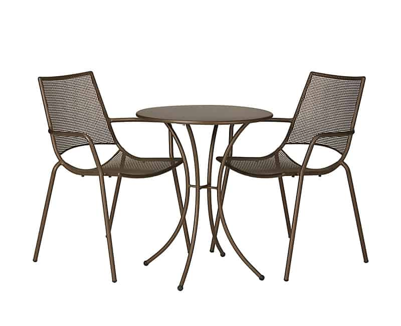 outdoor bistro table and chairs set legless floor chair australia balcony design ideas for urban outdoors view in gallery john lewis ala mesh