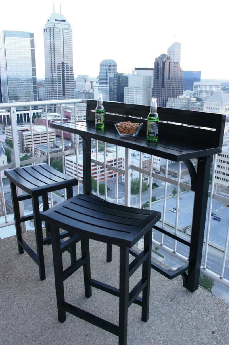 small bistro table and chair dining end chairs balcony design ideas for urban outdoors