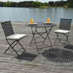 Metal Chairs And Table Heavy Duty Balcony Chair Design Ideas For Urban Outdoors View In Gallery Marseille Black Steel Three Piece Bistro Set