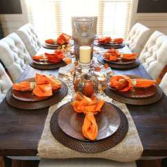 Decoration Ideas For Living Room Table Modern Wall Pictures Gorgeous Dining Fall Decor Every Special Day In Your View Gallery Orange Napkins As Accents