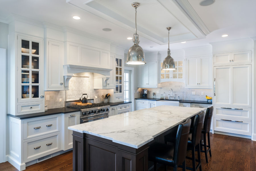 Black Marble With White Cabinets Novocom Top