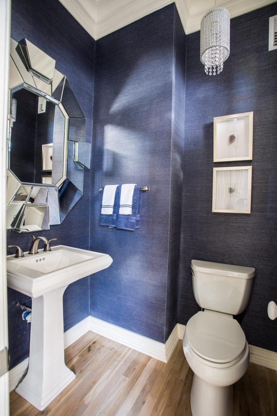 Silver Animal Print Wallpaper Unique Powder Rooms To Inspire Your Next Remodeling