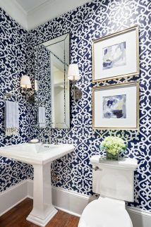 Blue Powder Room Design Ideas