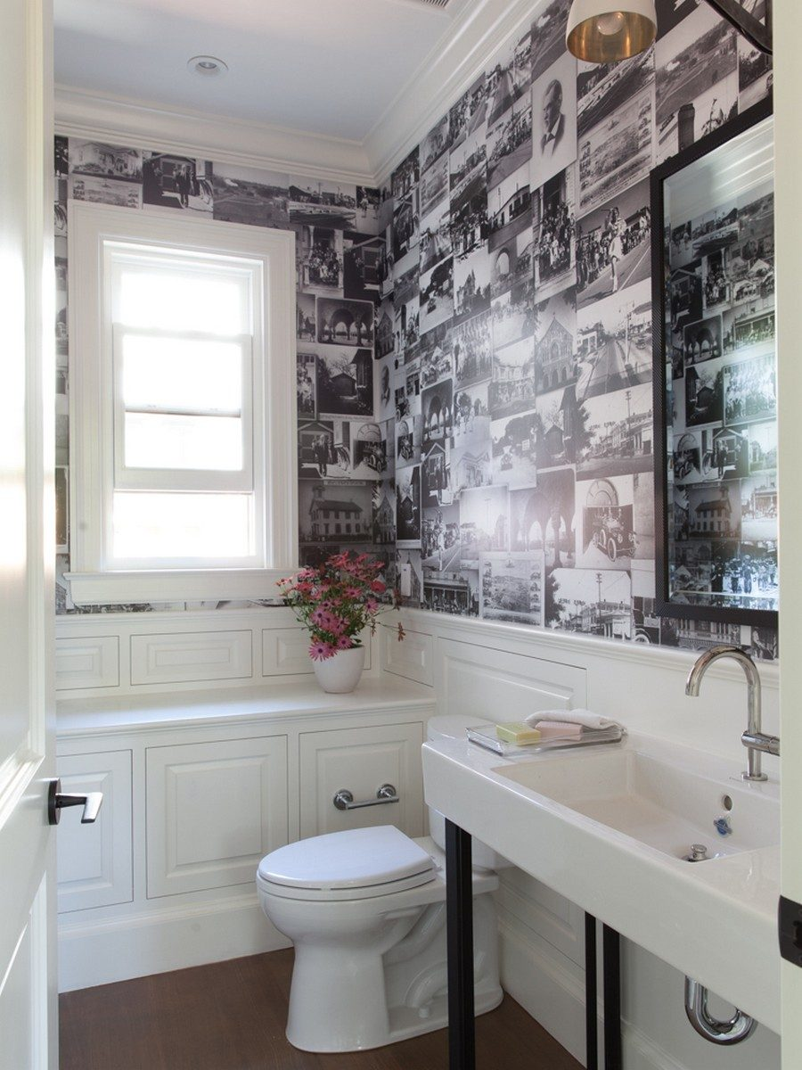 Black White Modern Wallpaper Unique Powder Rooms To Inspire Your Next Remodeling