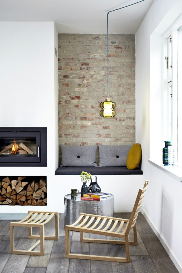 Fireplace Bench Seat