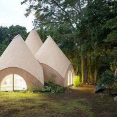 Green Kitchen Rug Ash Cabinets Teepee-shaped Home Complex In The Mountains Of Japan